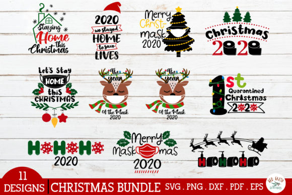 Christmas Quarantine Quotes Bundle Graphic Crafts By redearth and gumtrees