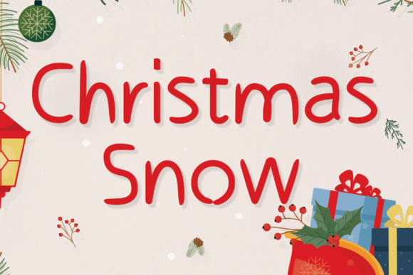 Print on Demand: Christmas Snow Script & Handwritten Font By StudioA26