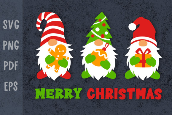Christmas Shirt Designs with Gnomes Graphic Crafts By GreenWolf Art