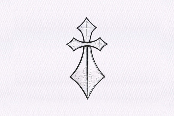 Cross Religion & Faith Embroidery Design By DigitEMB