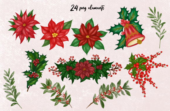 Cute Red Gnomes Christmas Clipart Graphic Item