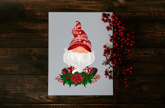 Cute Red Gnomes Christmas Clipart Graphic Popular Design