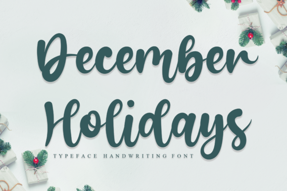 Print on Demand: December Holidays Script & Handwritten Font By flowerletter