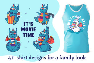 Print on Demand: Dragons for T-shirt Designs Graphic Illustrations By lesartbiz