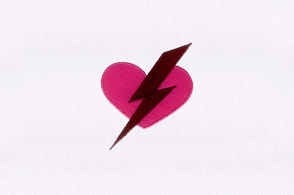 Electric Heart Valentine's Day Embroidery Design By DigitEMB