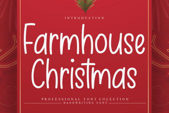 Print on Demand: Farmhouse Christmas Script & Handwritten Font By Micro77 type