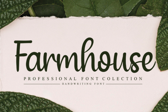 Print on Demand: Farmhouse Script & Handwritten Font By LetterW26a