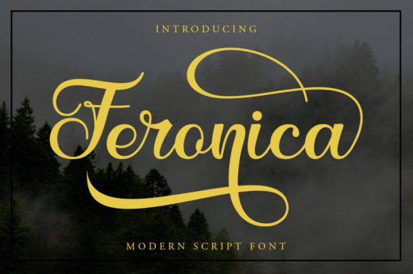 Print on Demand: Feronica Script & Handwritten Font By Skinny type