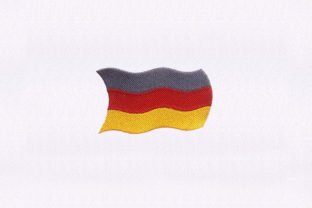 Germany Flag Design Independence Day Embroidery Design By DigitEMB