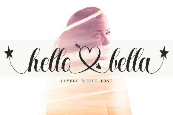 Print on Demand: Hello Bella Script & Handwritten Font By bosstypestudio