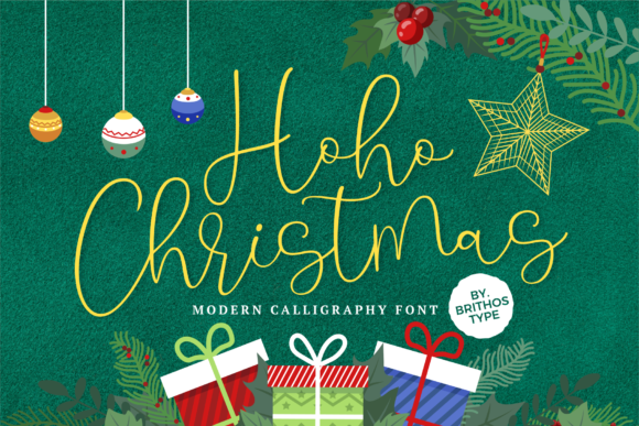 Print on Demand: Hoho Christmas Script & Handwritten Font By brithostype