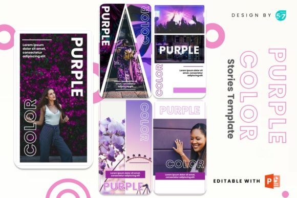 Instagram Story - Purple Color Graphic Presentation Templates By 57creative