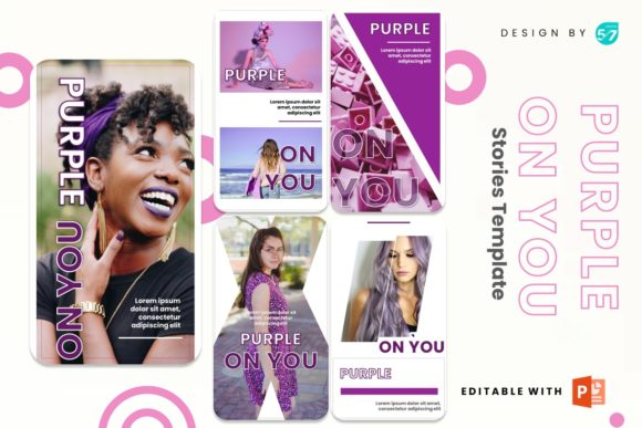 Instagram Story - Purple on You Graphic Presentation Templates By 57creative