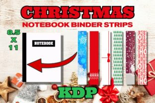 KDP Christmas Notebook Binder Strips Graphic KDP Interiors By .99 Cent Digital Products