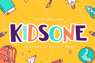 Print on Demand: Kidsone Display Font By qirocreative
