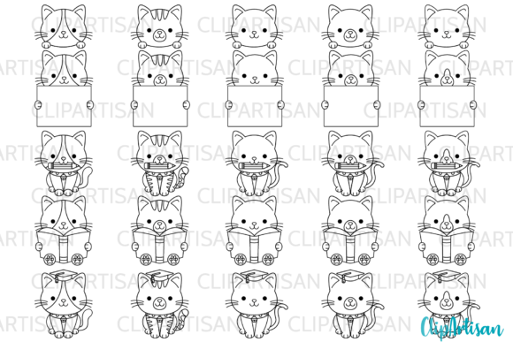 Kittens Clipart Kitty Cat Graduation SVG Graphic Illustrations By ClipArtisan