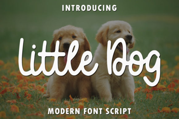 Print on Demand: Little Dog Script & Handwritten Font By rangkaiaksara