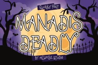 Print on Demand: Manadis Deadly Display Font By allouse.studio