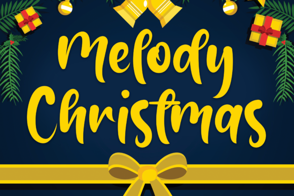 Print on Demand: Melody Christmas Script & Handwritten Font By flowerletter