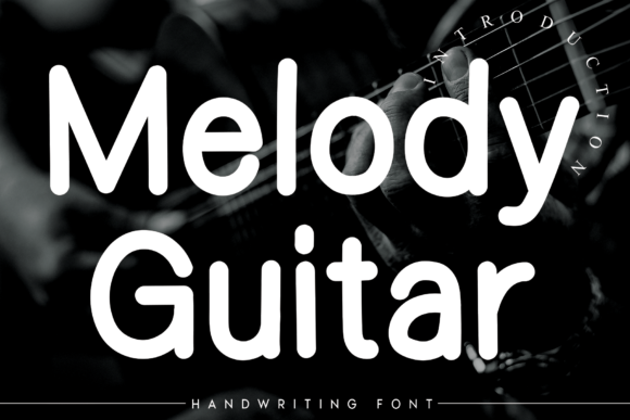 Print on Demand: Melody Guitar Script & Handwritten Font By flowerletter