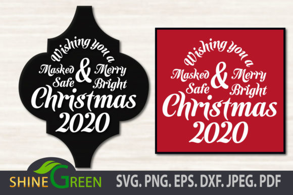 Print on Demand: Merry Christmas 2020 Ornament Arabesque Graphic Crafts By ShineGreenArt