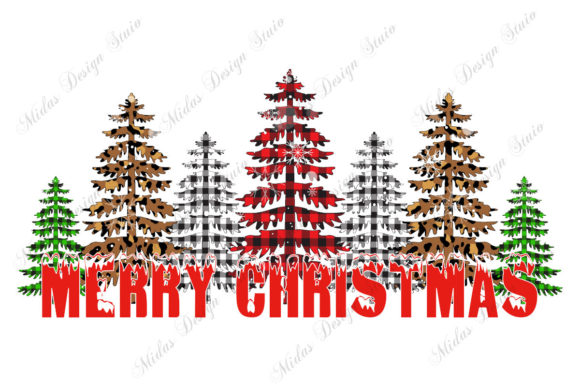 Merry Christmas Tree Buffalo Plaid Graphic Crafts By MidasStudio
