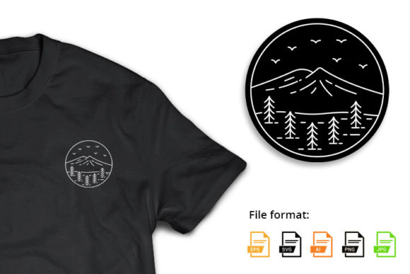 Mountains Badge 2 Graphic Illustrations By hello.teeszone