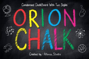 Print on Demand: Orion Chalk Display Font By allouse.studio