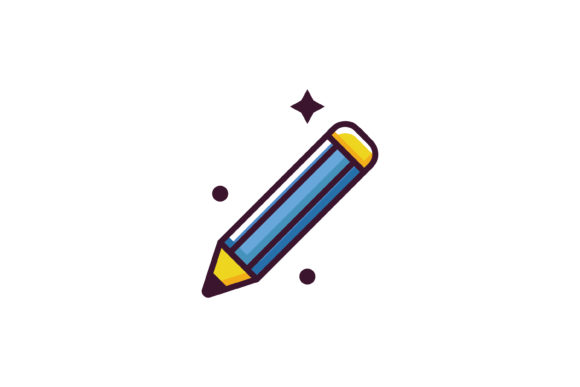 Print on Demand: Pencil Flat School Icon Graphic Icons By meandmydate