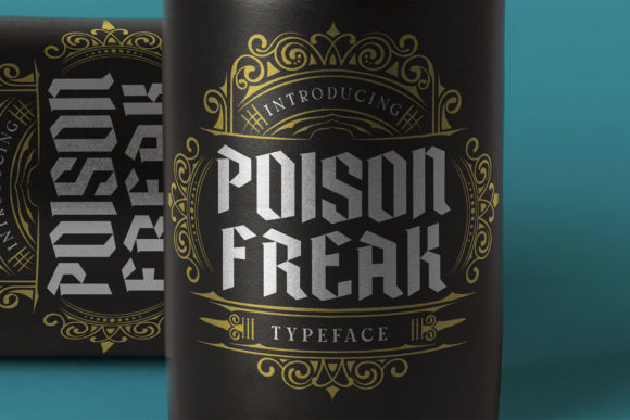Print on Demand: Poison Freak Blackletter Font By Alit Design