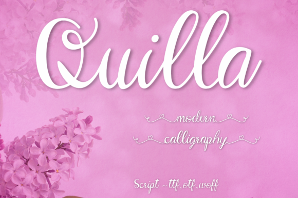 Print on Demand: Quilla Script & Handwritten Font By Aommy Design