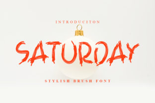 Print on Demand: Saturday Display Font By ONE DESIGN 1