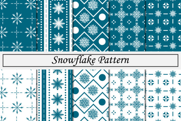 Print on Demand: Snowflake Pattern Graphic Patterns By Mahesa Design