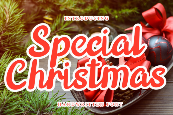 Print on Demand: Special Christmas Script & Handwritten Font By giatstudios