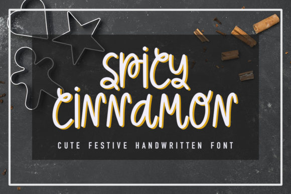 Print on Demand: Spicy Cinnamon Script & Handwritten Font By Masha Artifex