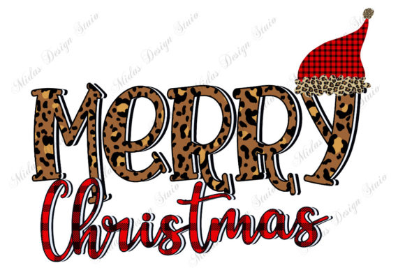 Sublimation - Leopard Merry Christmas Graphic Crafts By MidasStudio