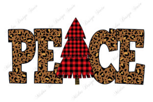 Sublimation - Leopard Peace Christmas Graphic Crafts By MidasStudio