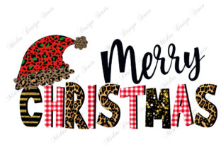 Sublimation - Red Leopard Christmas Graphic Crafts By MidasStudio