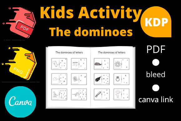 Print on Demand: The Dinosaur Dominoes Kids Activity KDP Graphic KDP Interiors By Dunkyshot
