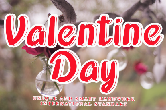 Print on Demand: Valentine Day Display Font By giatstudios
