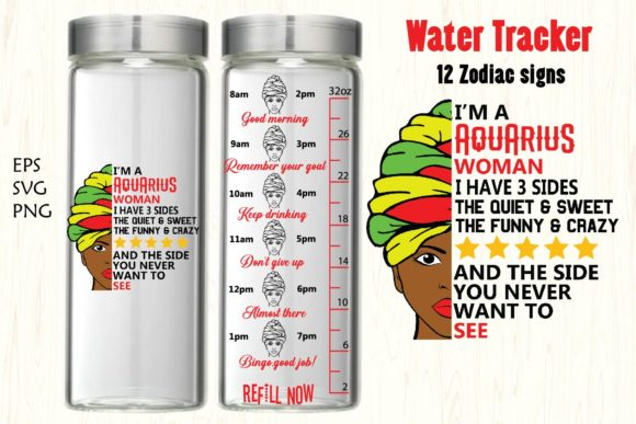 Water Tracker,12 Zodiac Signs Water Graphic Crafts By Paper switch
