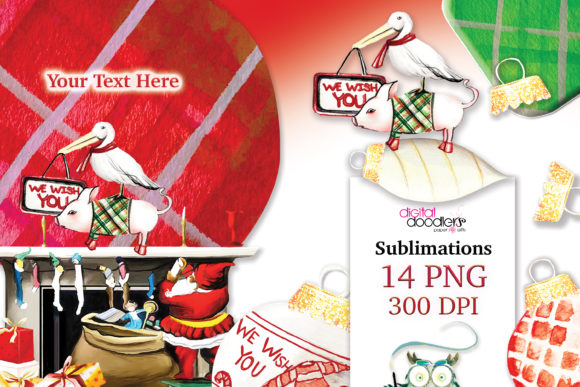 Print on Demand: We Wish You Christmas Sublimation Graphic Illustrations By Digital Doodlers