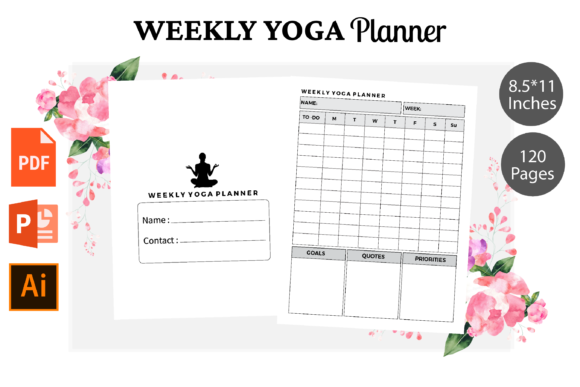 Print on Demand: Weekly Yoga Planner KDP Interior Graphic KDP Interiors By KDPWarrior
