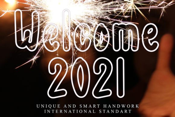 Print on Demand: Welcome 2021 Display Font By dazzlinggleam