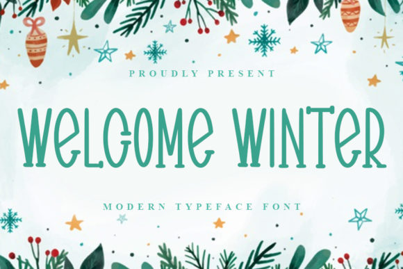 Print on Demand: Welcome Winter Script & Handwritten Font By ONE DESIGN