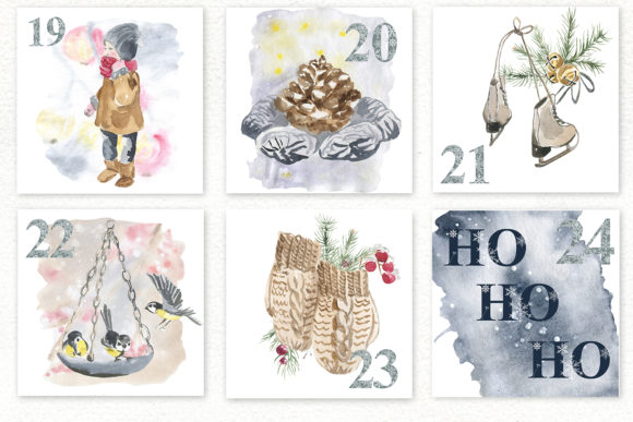 Winter. Advent Calendar Set Graphic Preview
