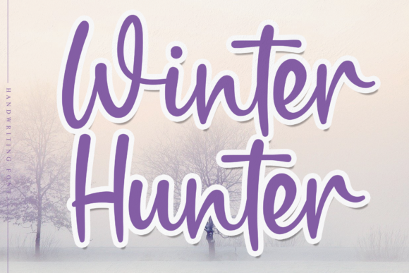 Print on Demand: Winter Hunter Script & Handwritten Font By Micro77 type