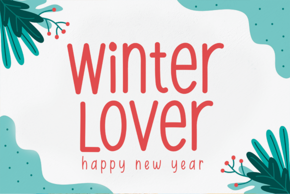 Print on Demand: Winter Lover Script & Handwritten Font By Micro77 type