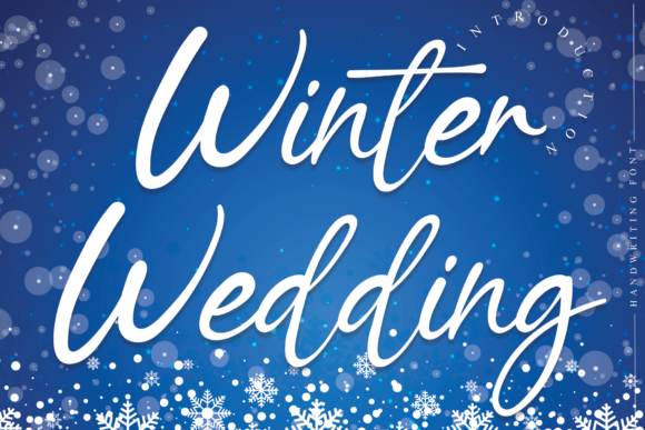 Print on Demand: Winter Wedding Script & Handwritten Font By flowerletter