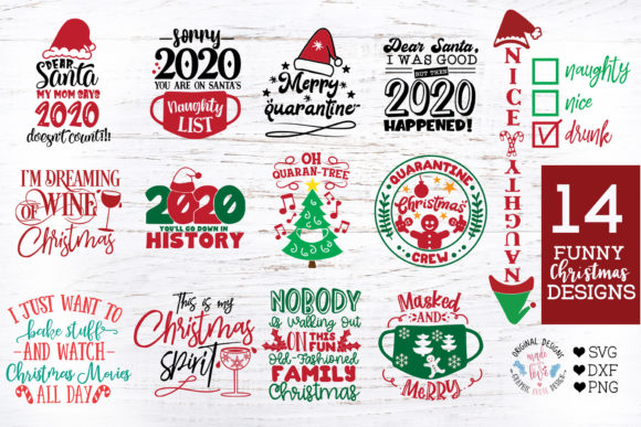 14 Funny Christmas and 2020 Quotes in SV Graphic Crafts By GraphicHouseDesign
